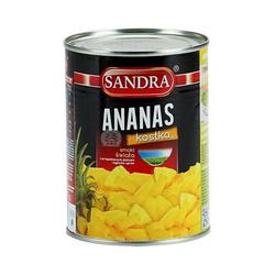 Ananas kostka SANDRA 565g  Dua Vien Nho SANDRA 565gx24szt
