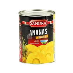 Ananas plastry SANDRA 565g    Dua Khoanh Nho SANDRA  565gx24szt