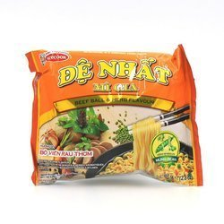 Zupka błyskawiczna z wołowiną 80g/opak x 30opak/krt   Mi De Nhat Bo Vien 80g/opak x 30opak/krt